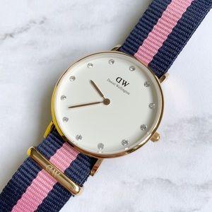 Daniel Wellington Winchester NATO Rose Gold Watch